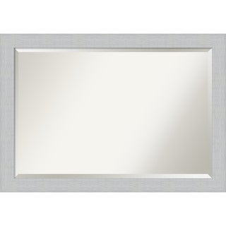 Wall Mirror, Shiplap White - White Washed