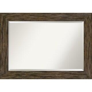 Wall Mirror, Fencepost Brown