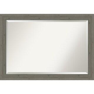 Wall Mirror, Fencepost Grey Narrow