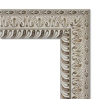 Wall Mirror, Fair Baroque Cream - Antique White/Brown