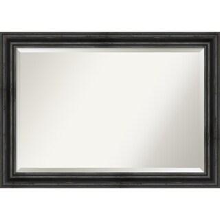 Wall Mirror, Rustic Pine Black