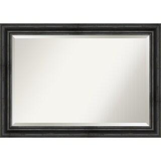 Wall Mirror, Rustic Pine Black - Black/Brown