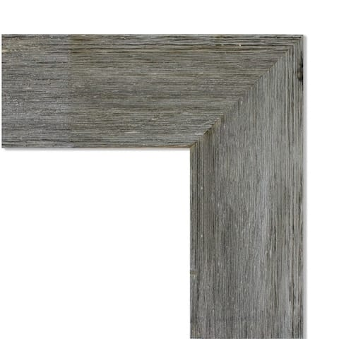 Wall Mirror, Fencepost Grey
