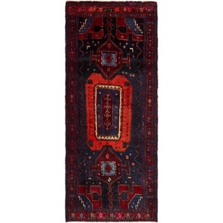 Hand Knotted Meshkin Semi Antique Wool Runner Rug - 4' x 10'