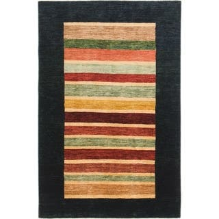 Hand Knotted Modern Ziegler Wool Area Rug - 4' x 6' 2