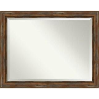 Bathroom Mirror, Alexandria Rustic Brown