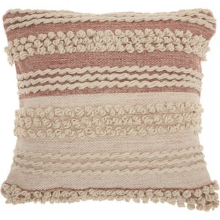 Mina Victory Handmade Textured Blush Throw Pillow (20 -Inch x 20 -Inch)