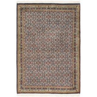 Hand Knotted Mood Silk & Wool Area Rug - 3' 4 x 4' 10