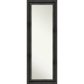 On The Door Full Length Wall Mirror, Rustic Pine Black: Outer Size 19 x 53-inch - Black/Brown