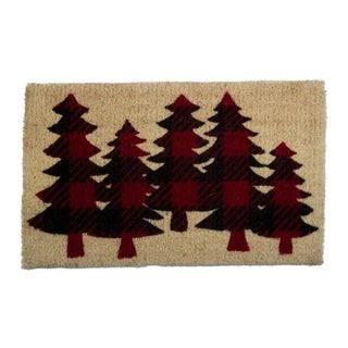 TAG Buffalo Check Trees Coir Mat Red