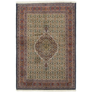 Hand Knotted Mood Silk & Wool Area Rug - 3' 2 x 4' 8