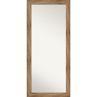 Floor / Leaner Mirror, Owl Brown: Outer Size 29 x 65-inch - Brown - 65.38 x 29.38 x 0.795 inches deep