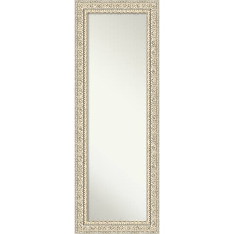 On The Door Full Length Wall Mirror, Fair Baroque Cream: Outer Size 20 x 54-inch - 53.50 x 19.50 x 1.287 inches deep