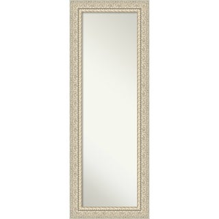 On The Door Full Length Wall Mirror, Fair Baroque Cream: Outer Size 20 x 54-inch