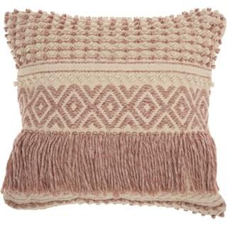 Mina Victory Handmade Blush Bohemian Throw Pillow (20 -Inch x 20 -Inch)