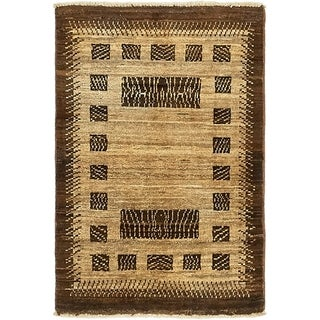 Hand Knotted Modern Ziegler Wool Area Rug - 2' x 3'