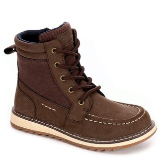 Highland Creek Boys Beau High Top Boot Shoes, Brown