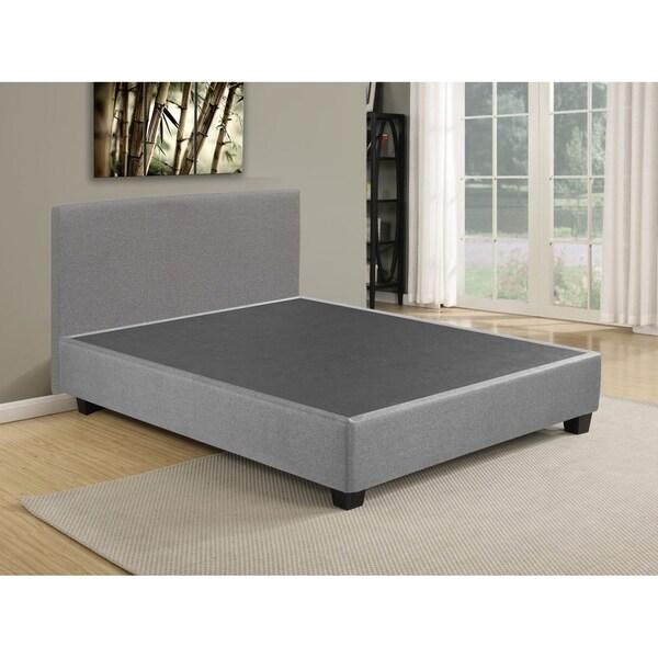 Shop Box Spring Foundation Platform Bed With Headboard