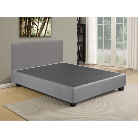 Box spring / Foundation Platform Bed with Headboard, Comes With Legs To Eliminate Need For Bed Frame