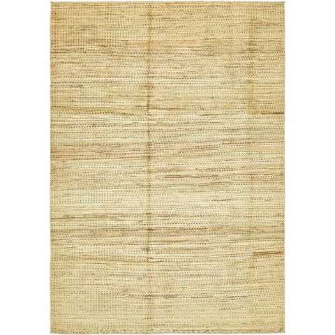 Hand Knotted Modern Ziegler Wool Area Rug - 6' 7 x 9' 7