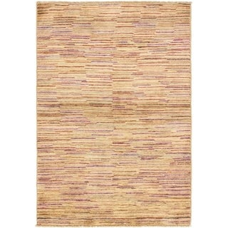 Hand Knotted Modern Ziegler Wool Area Rug - 3' 5 x 5'
