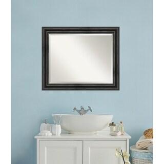 Bathroom Mirror, Rustic Pine Black