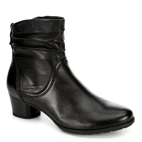 Medicus Womens Theodora Side Zip Slouch Ankle Boot Shoes Black