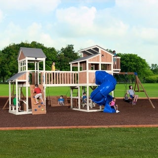 Backyard Discovery Skyline Retreat Wooden Swing Set - 333.0 In. X 250.0 In. X 143.0 In.