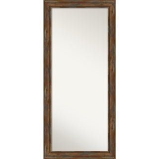 Floor / Leaner Mirror, Alexandria Rustic Brown: Outer Size 30 x 66-inch - Brown - 65.88 x 29.88 x 1.894 inches deep