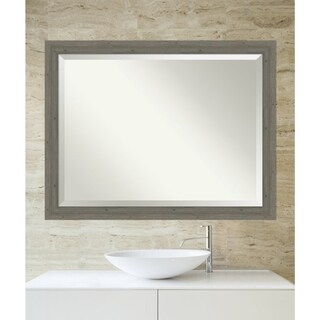 Bathroom Mirror, Fencepost Grey Narrow