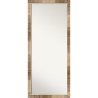Floor / Leaner Mirror, Natural White Wash: Outer Size 28 x 64-inch