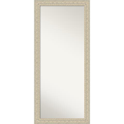 Floor / Leaner Mirror, Fair Baroque Cream: Outer Size 30 x 66-inch - 65.50 x 29.50 x 1.287 inches deep