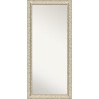 Floor / Leaner Mirror, Fair Baroque Cream: Outer Size 30 x 66-inch - Cream - 65.50 x 29.50 x 1.287 inches deep