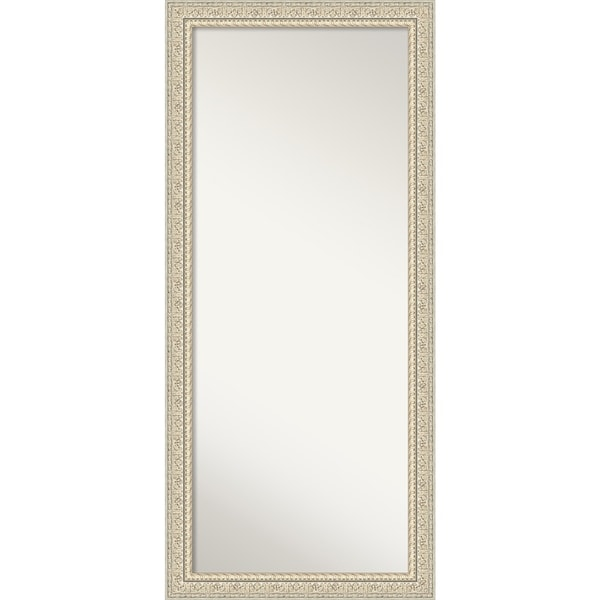 Floor / Leaner Mirror, Fair Baroque Cream: Outer Size 30 x 66-inch - Cream - 65.50 x 29.50 x 1.287 inches deep