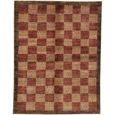 Hand Knotted Modern Ziegler Wool Area Rug - 5' 9 x 7' 5