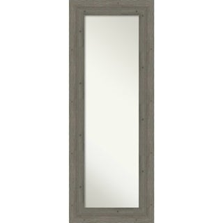 On The Door Full Length Wall Mirror, Fencepost Grey: Outer Size 21 x 55-inch