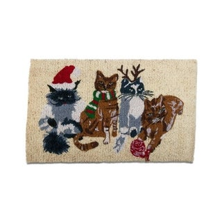 TAG Holiday Cats Coir Mat Multi