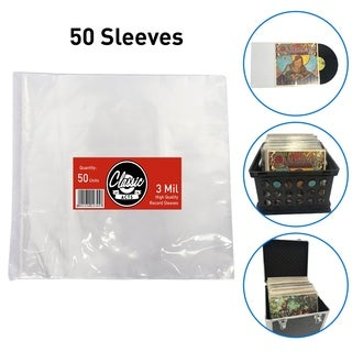 Classic Acts Vinyl Record Sleeves Protect Your Album Covers - LP Sleeves Fit Single and Double Albums qty50