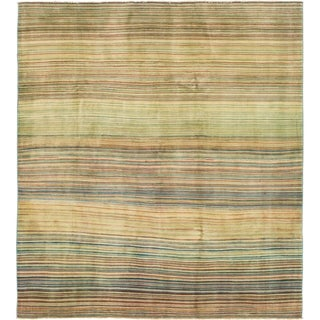 Hand Knotted Modern Ziegler Wool Square Rug - 6' 6 x 7' 3