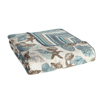 VCNY Home Shell Treasure Reversible Quilt Set
