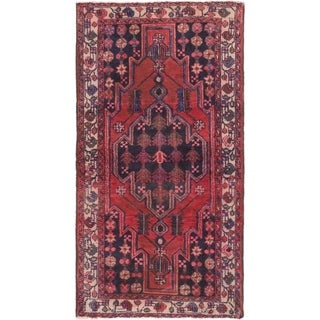 Hand Knotted Mazlaghan Semi Antique Wool Area Rug - 4' x 7' 5