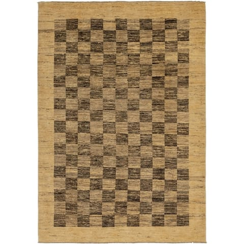 Hand Knotted Modern Ziegler Wool Area Rug - 6' 6 x 9' 6