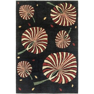 Hand Knotted Modern Ziegler Wool Area Rug - 6' 5 x 9' 8