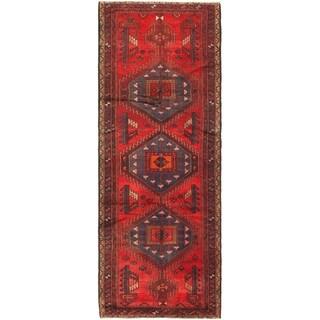 Hand Knotted Meshkin Semi Antique Wool Runner Rug - 3' 7 x 9' 7