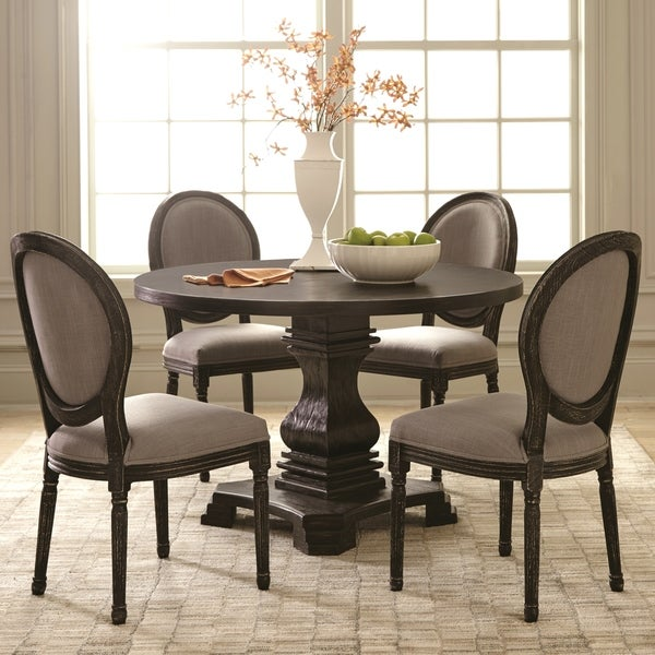 shop european classic design 5 piece round dining set free shipping today overstock 24035341. Black Bedroom Furniture Sets. Home Design Ideas