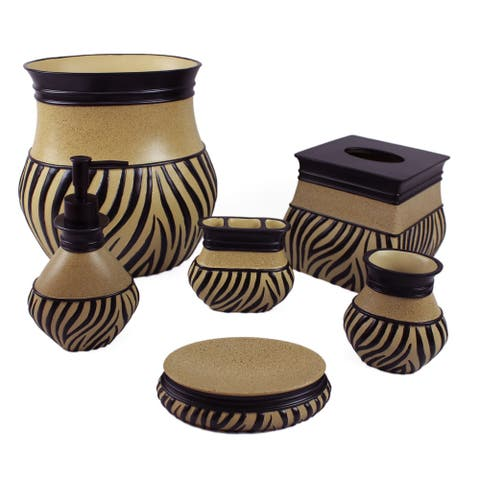 Animal Print Bathroom Accessory Sets