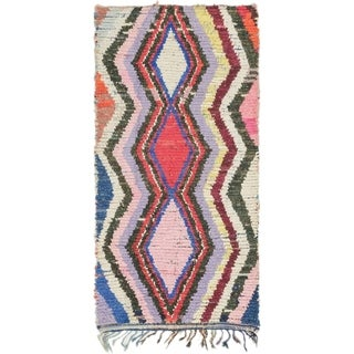 Hand Knotted Moroccan Semi Antique Wool Runner Rug - 3' 4 x 6' 8