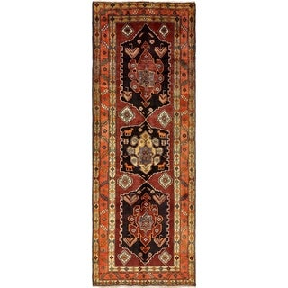 Hand Knotted Meshkin Antique Wool Runner Rug - 5' x 14'