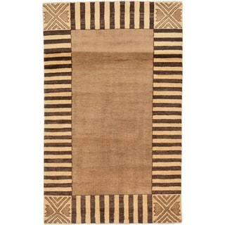 Hand Knotted Modern Ziegler Wool Area Rug - 3' 9 x 6'