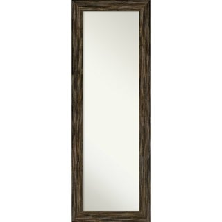 On The Door Full Length Wall Mirror, Fencepost Brown Narrow: Outer Size 19 x 53-inch